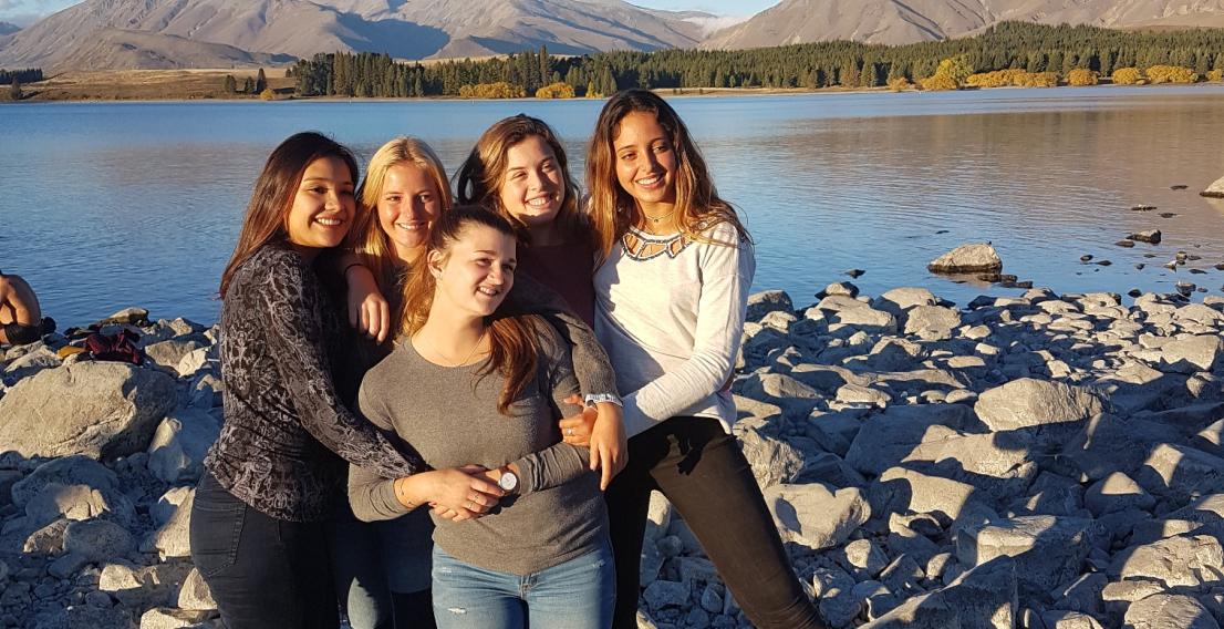 Girls Lake Tekapo